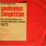 Gaudeamus Competition 1972